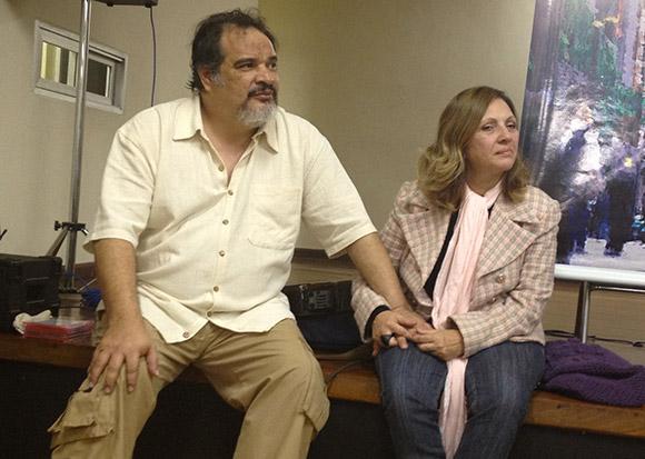 Stênio Marcius e Selma Nogueira na Estação São Paulo do Caminho da Graça.